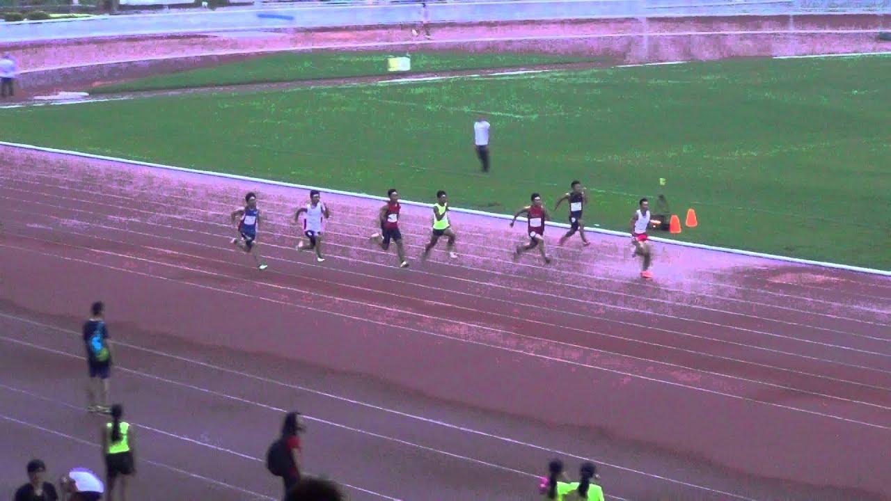 屈臣氏田徑會周年大賽2015 BA2 100m Final - YouTube