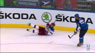 Referees at Finland - Russia IIHF WC 2014 Final