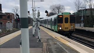 Southern ft Gatwick Express and Northern Line Trains at Balham on March 10th 2018