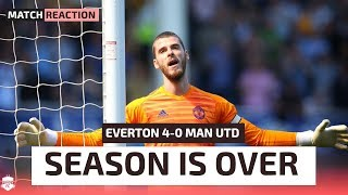 SEASON IS OVER! Everton 4-0 Manchester United | Man United Review