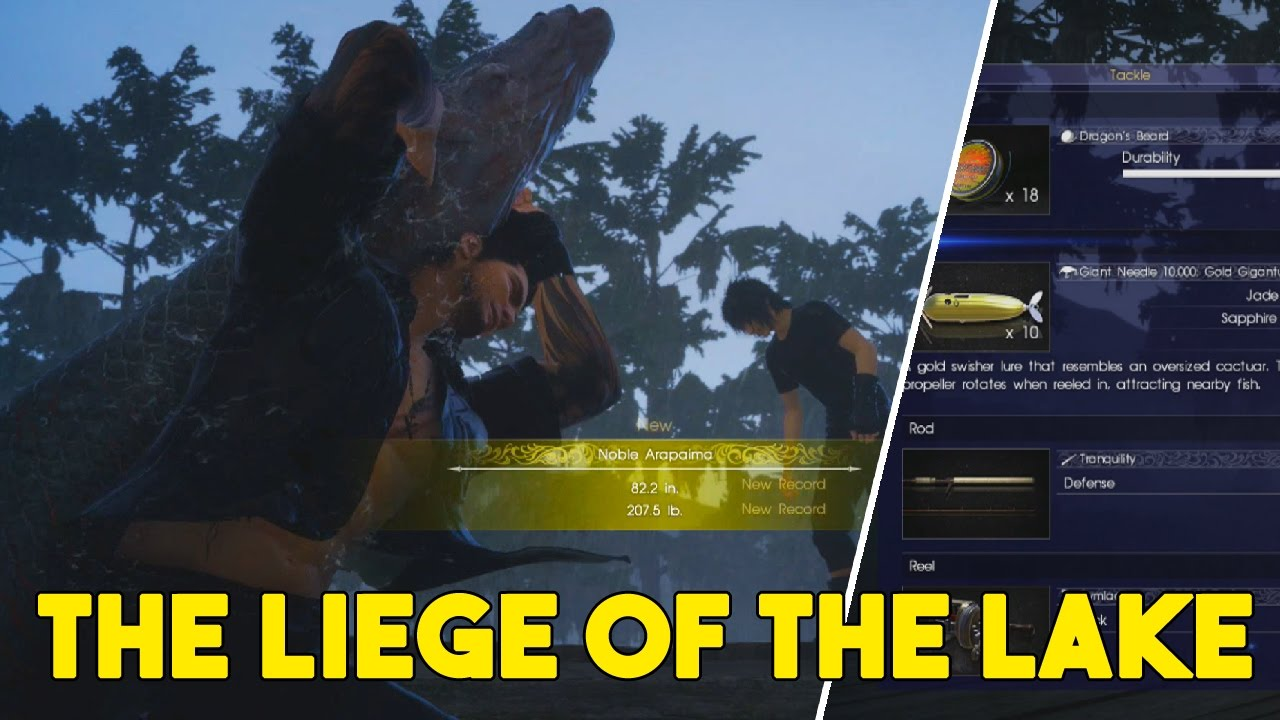 Final fantasy xv how to catch the liege of the lake guide for Final fantasy 15 fishing guide