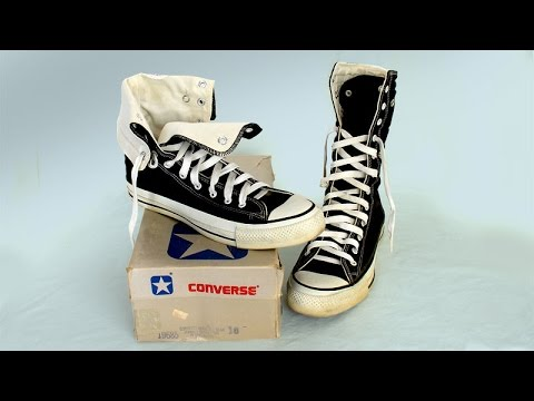a41a270d668a RARE Vintage USA-MADE Converse NEEHI All Star Chuck Taylor shoes black size  10 at collectornet.net