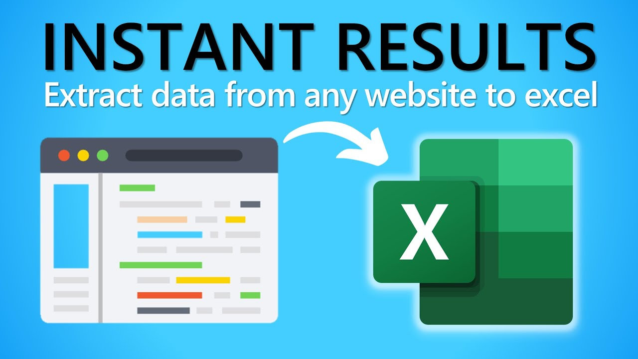 How to Extract Data from Website to Excel Automatically ...