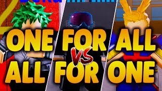 [NOVO CÓDIGO EXCLUSIVO] DEKU/ALL PODE UM PARA TODOS VS ALL FOR ONE | Boku no Roblox remasterizado