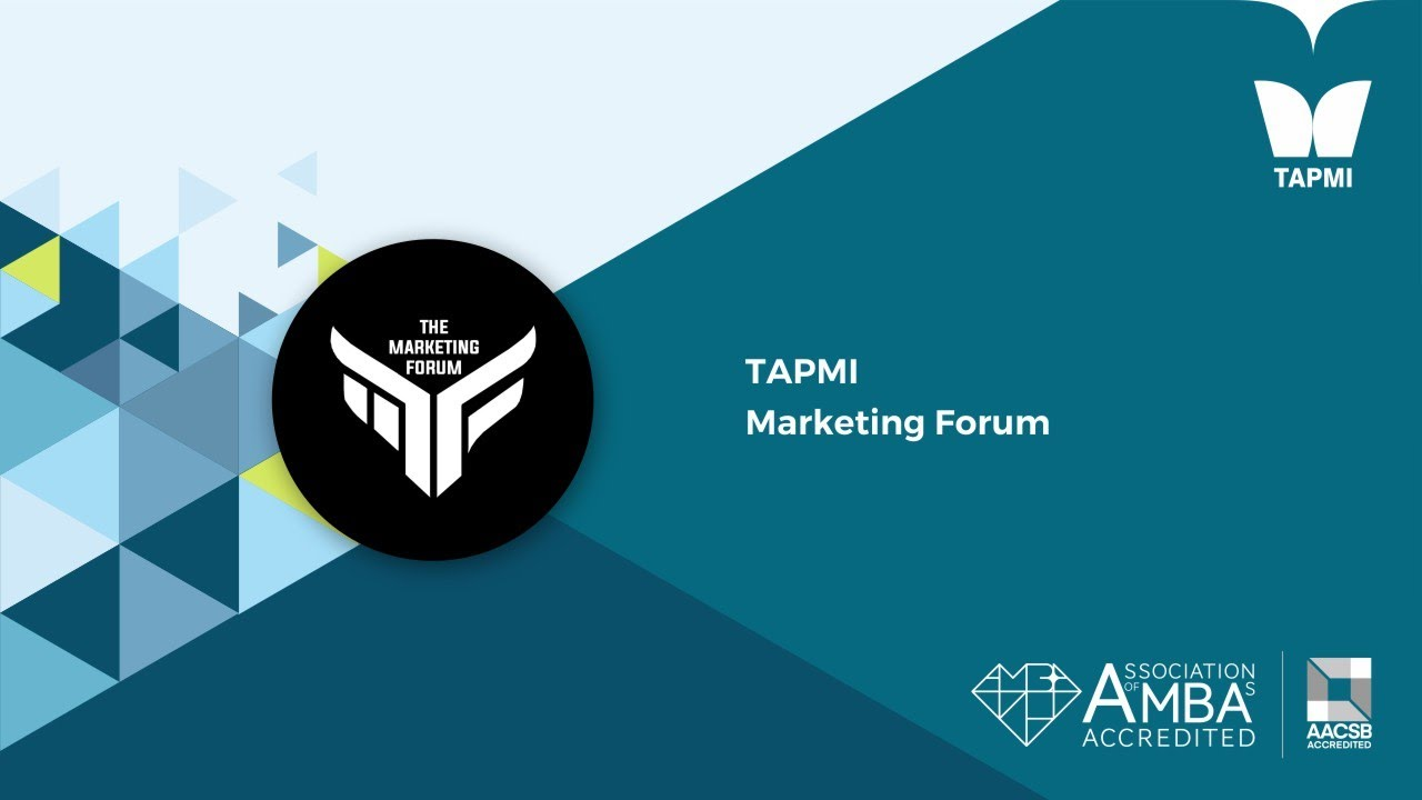TAPMI   Marketing Forum