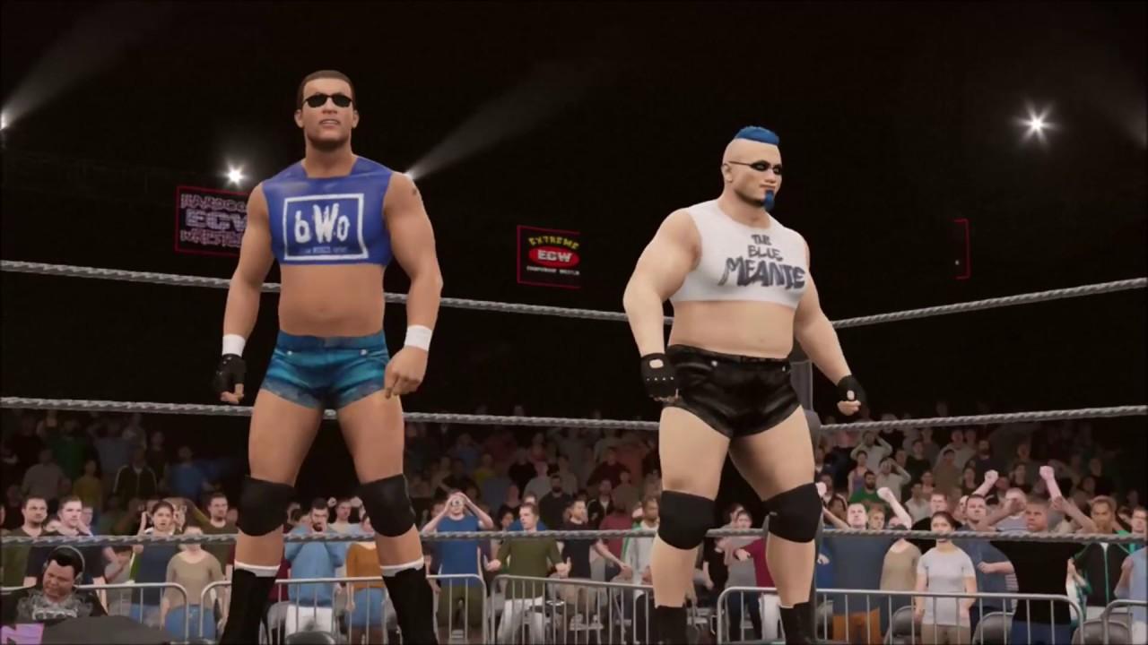 Impact Players Vs The B W O (Blue World Order) - ECW Hardcore TV (May 21th  2017)