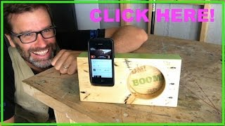 How To Make A Wooden Iphone Amplifier. Cool Pallet Wood Project!