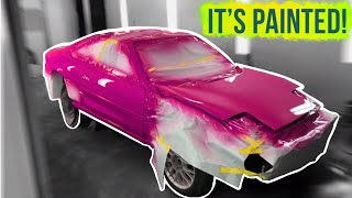 Pt.3 | Boostedboiz $400 MR2 build | IT'S PAINTED!