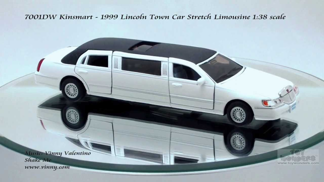 7001dw Kinsmart 1999 Lincoln Town Car Stretch Limousine 138 Scale