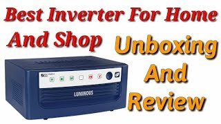 Luminous Eco Watt+ 850 Inverter Unboxing And Review   Best Inverter For Home And Shop   Hindi