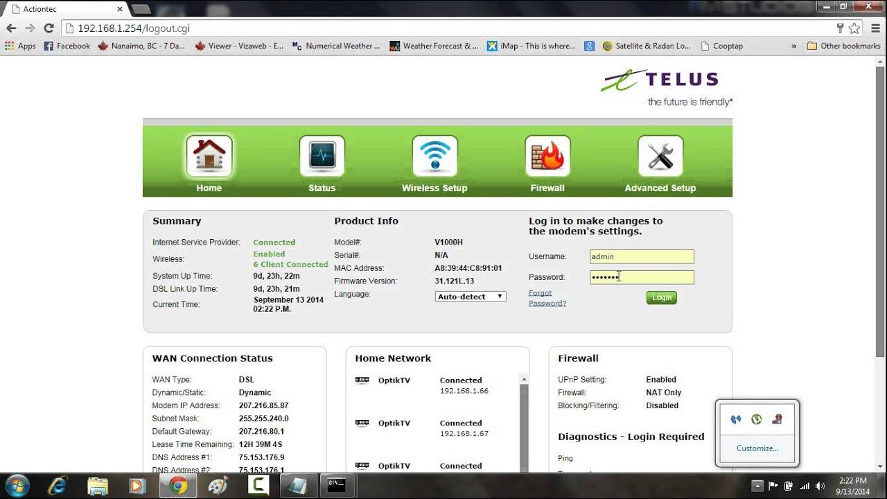 Solve Actiontec R1000H problem