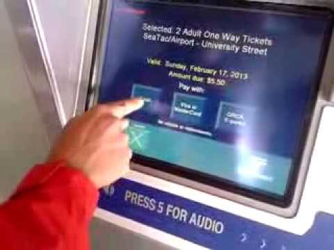 Buying Link Rail Tickets to Downtown Seattle