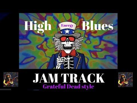 High-Energy Blues Guitar Backing Jam Track (Bm)