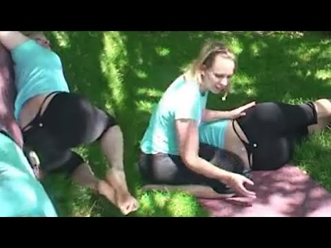 Download Yoga Class Student Has Multiple Thong Slips