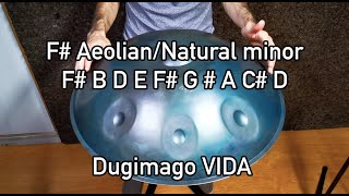 Dugimago Vida F# Aeolian/Natural minor 8 + Ding scale