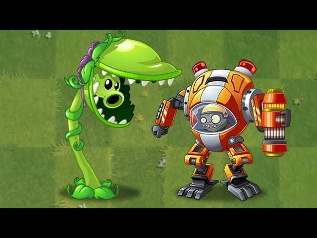 Plants Vs Zombies 2 Z Mech Vs Guisante Carnívoro