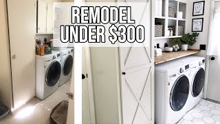 SMALL LAUNDRY ROOM MAKEOVER UNDER $300🧺