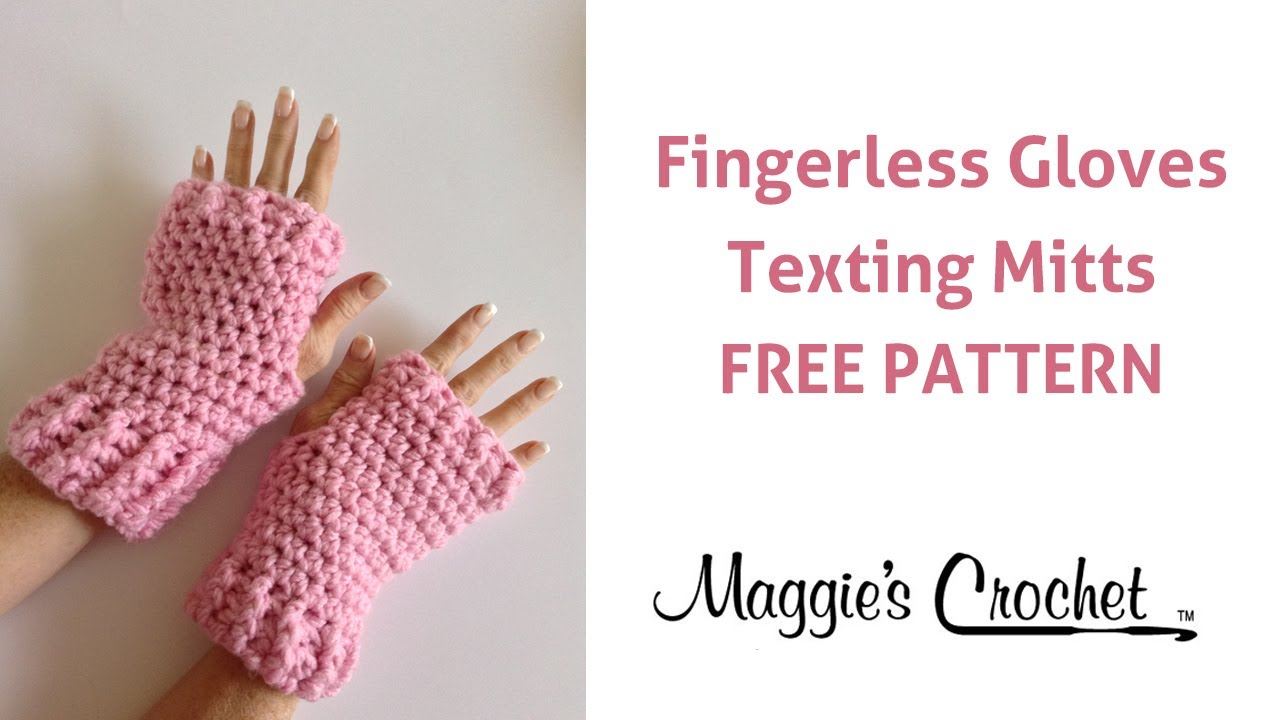Fingerless Gloves Texting Mitts Free Crochet Pattern - Right Handed ...