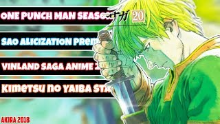 One Punch Man Staffel 2 NEUE INFOS! | VINLAND SAGA ANIME START 2019! | Akira News
