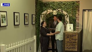 Walk-in wedding chapel available downtown