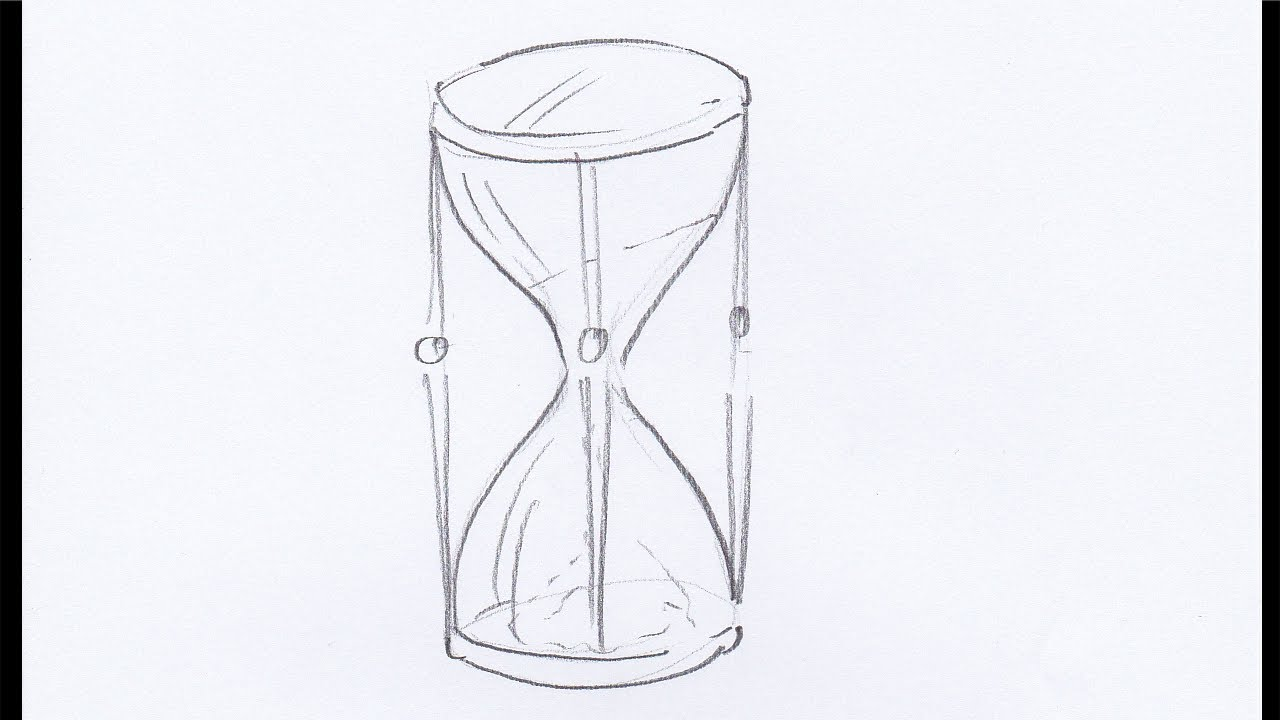 Hourglass drawing  How To Draw an Hourglass - YouTube
