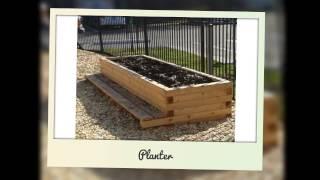 Natural Wood Playground Equipment