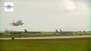 F-15 Eagle Aircrafts Takeoff - Andersen Air Force Base, Guam (2013)