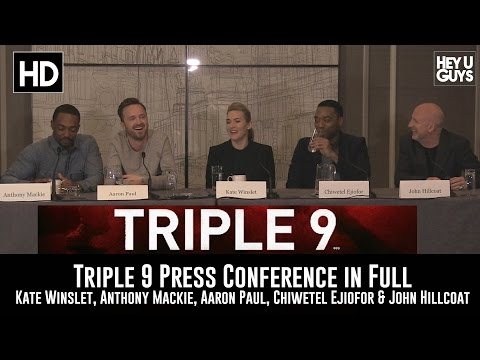 Triple 9 Press Conference in Full (Kate Winslet, Anthony Mackie, Aaron Paul, Chiwetel Ejiofor)
