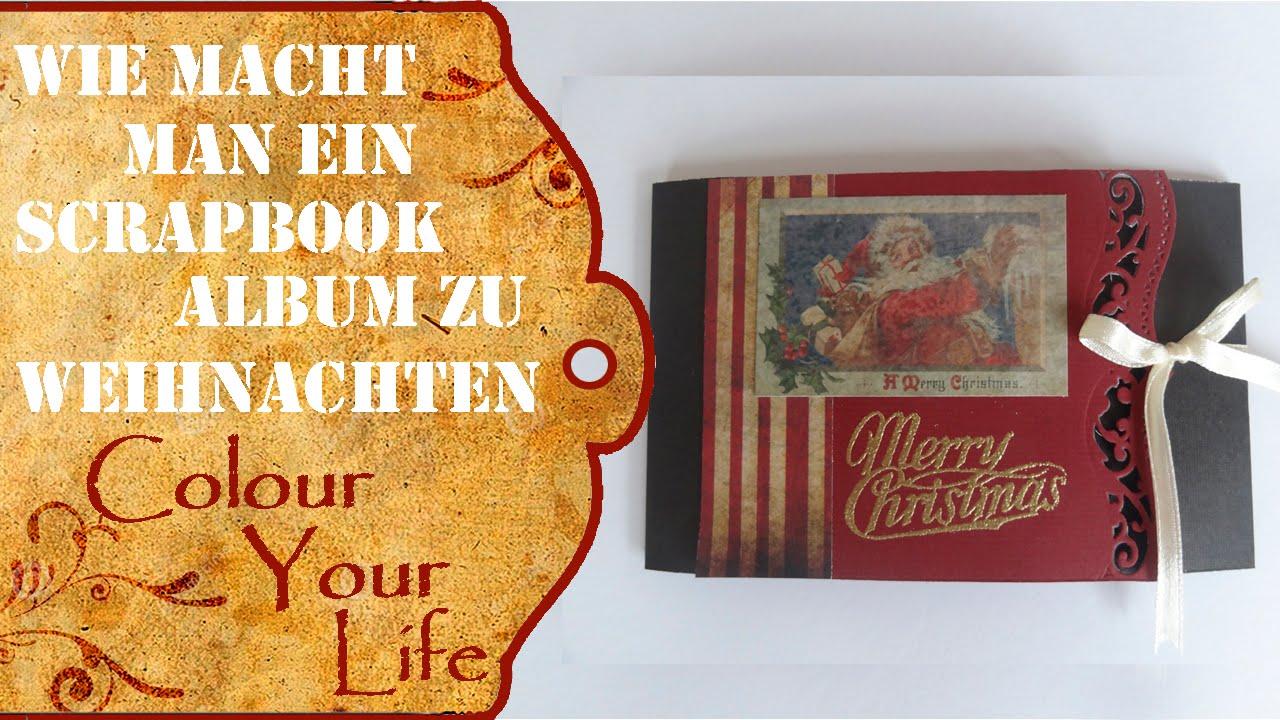 Wie macht man ein Mini Scrapbook Album für Weihnachten Last Minute ...