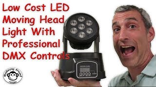 Best Low Cost LED Moving Head Light with Professional DMX Controls by BETOPPER review