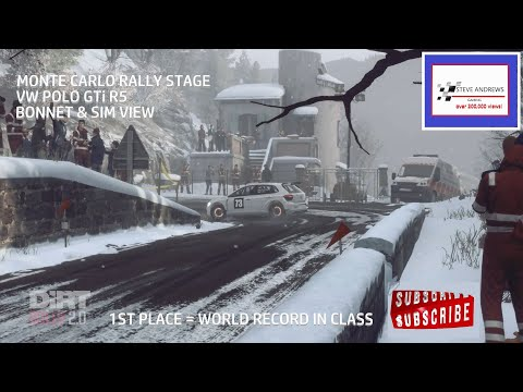 DiRT Rally 2.0 Monte carlo rally stage - VW Polo GTi R5 - World Record - HD1080 60fps |