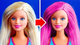 26 NEW DIY BARBIE MAKEOVERS YOU CAN MAKE UNDER 5 MINUTES thumbnail