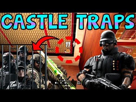 HOW TO SET TRAPS w/ CASTLE - Rainbow Six Siege