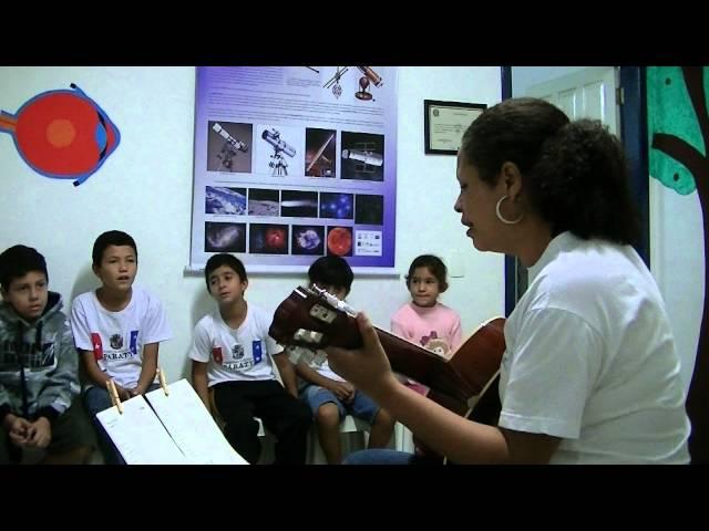 Aula de Música, parceria CEIC - Escola