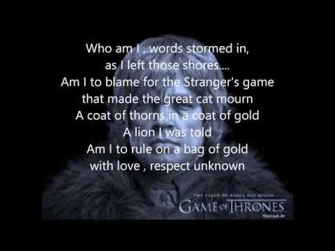 Rains of Castamere - Tyrion Version (New Verses)