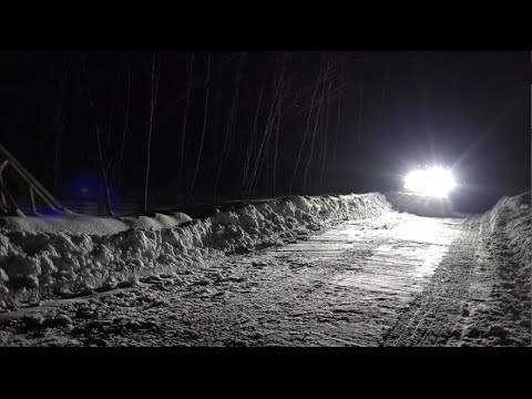 Nextech Led Snow Plow Lights In Action Youtube