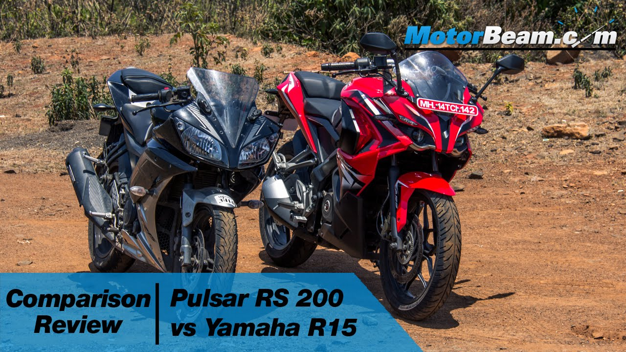 Pulsar RS 200 vs Yamaha R15 - Comparison Review | MotorBeam