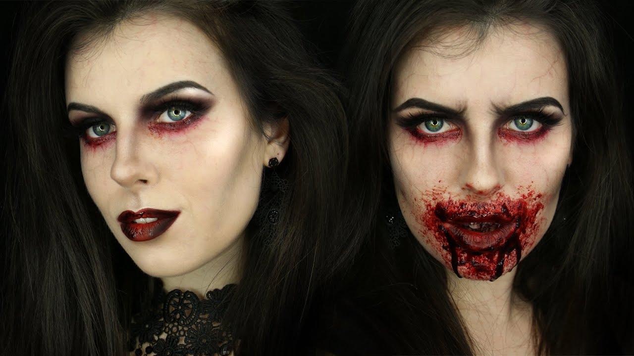 glam to gore vampire makeup tutorial youtube