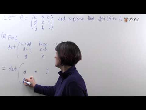 How elementary row operations affect the determinant (Ch5 Pr38)
