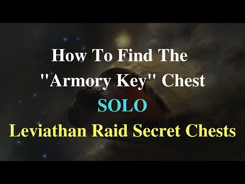 """Destiny 2: How To Find The """"Armory Key"""" Chest SOLO - Leviathan Raid Secret Chests"""