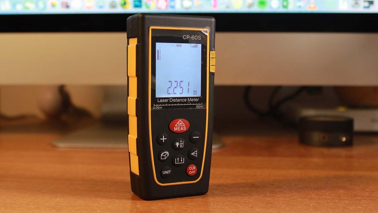 Portable Digital Range Finder Ultra-Mini USB di Ricarica Pocket Range Finder Strumenti di misurazione del misuratore di Distanza ad Alta precisione Misura Laser per Area di Volume Ans 40M LS1