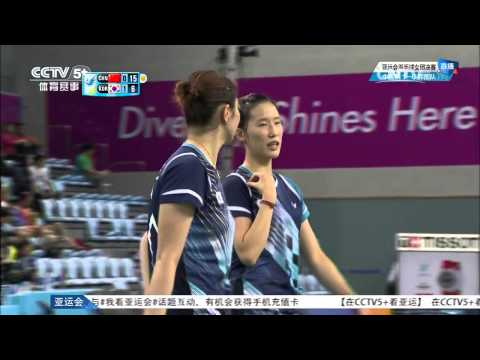 [HD] 2014 Asian Games - WT - F - WD1 - TIAN Q. / ZHAO Y.L. (