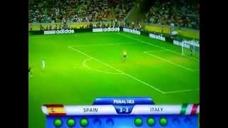 españa vs italia penales (7-6) semifinales 2013