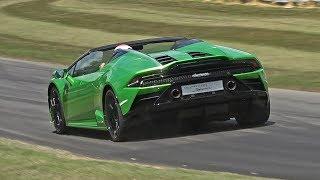 Lamborghini Huracán EVO Spyder PURE SOUND @ FOS Goodwood 2019!