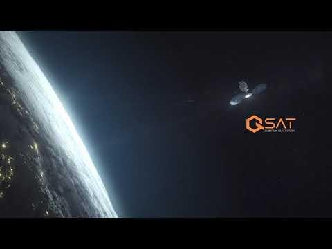 QSAT™ blockchain quantum secure satellite constellation Launch