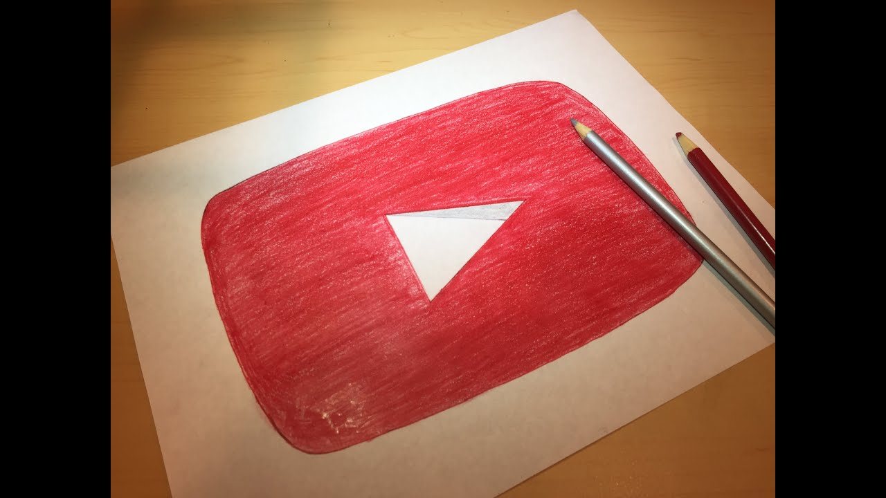 How To Draw The Youtube Logo Logo Drawing Youtube