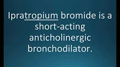 How to pronounce ipratropium bromide (Atrovent) (Memorizing Pharmacology Flashcard)
