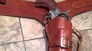 Bianchi 1898 Western Gun Rigs and Ruger Vaquero   Stainless Steel in  357 Magnum