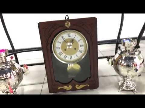 Настенные советские часы с боем Янтарь