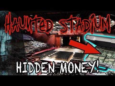 HAUNTED STADIUM OVERNIGHT CHALLENGE (HIDDEN MONEY)